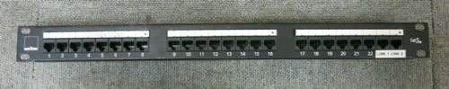 "Emitex EM01.002 0049-8286 19"" CAT5e 1U 24 Port RJ45 Patch Panel Black"
